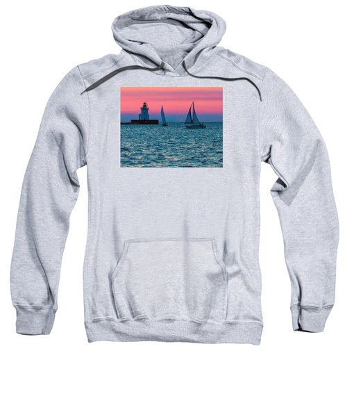 Sailing At The Cleveland Lighthouse  Sweatshirt