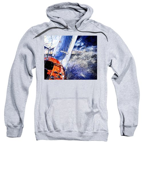 Sweatshirt featuring the painting Sailing Souls by Hanne Lore Koehler