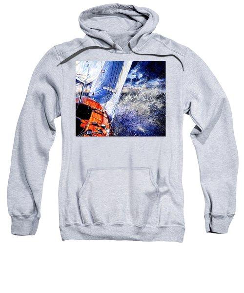 Sweatshirt featuring the painting Sailing Souls by Hanne Lore Koehler