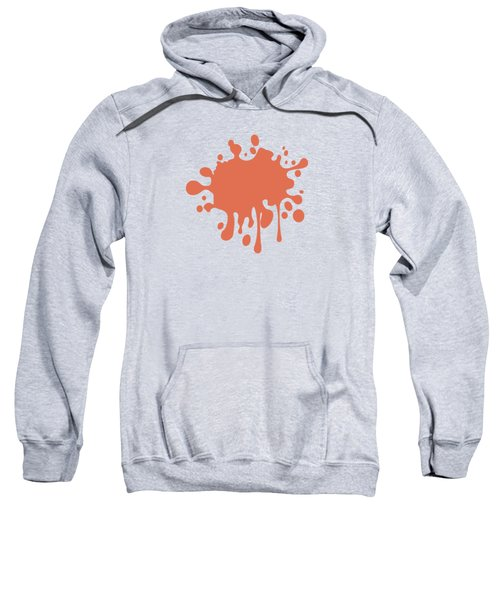 Salmon Color Accent Decor Sweatshirt