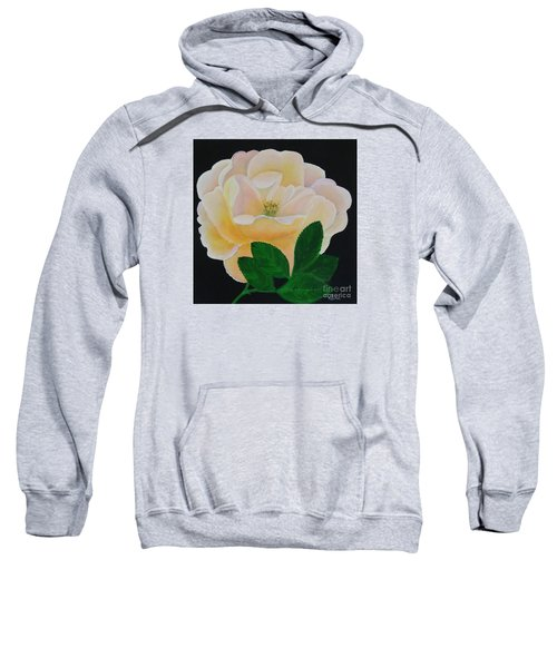 Salmon Pink Rose Sweatshirt