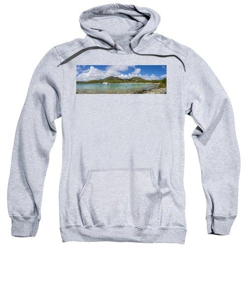 Sweatshirt featuring the photograph Salt Pond Bay Panoramic by Adam Romanowicz