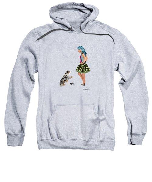 Sweatshirt featuring the digital art Samantha by Nancy Levan