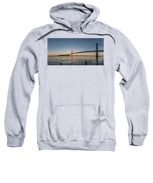 San Francisco Bay Brdige Just Before Sunrise Sweatshirt