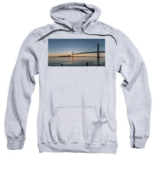 San Francisco Bay Brdige Just Before Sunrise Sweatshirt