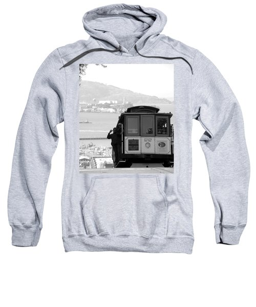 San Francisco Cable Car With Alcatraz Sweatshirt