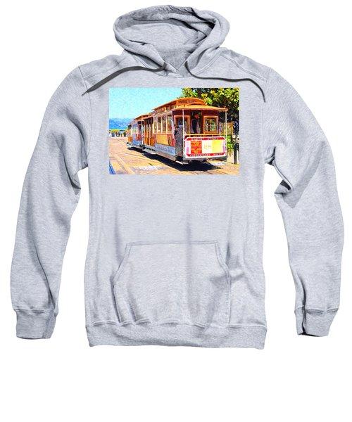 San Francisco Cablecar At Fishermans Wharf . 7d14097 Sweatshirt
