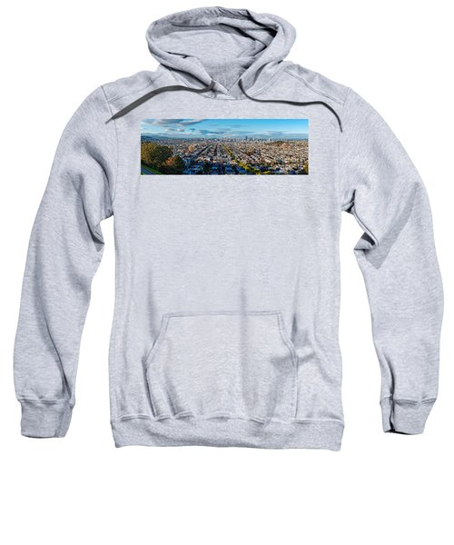 San Francisco Skyline From Bernal Heights Park At Sunset - San Francisco California Sweatshirt