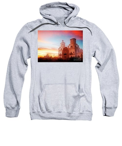Sweatshirt featuring the photograph San Xavier Del Bac by Scott Kemper