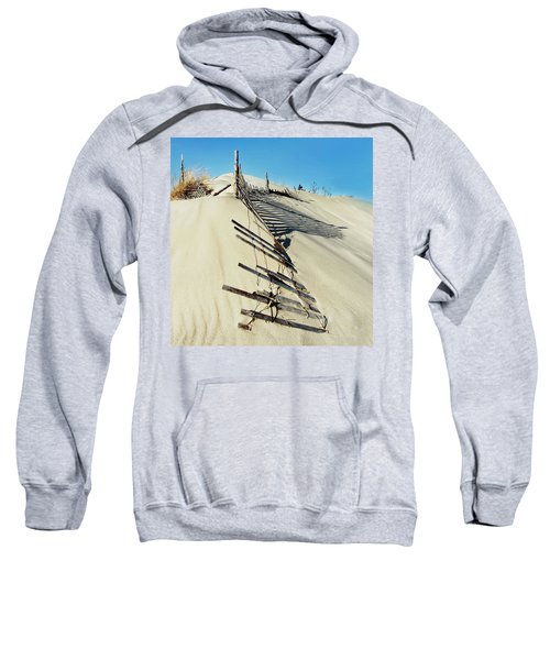 Sand Dune Fences And Shadows Sweatshirt