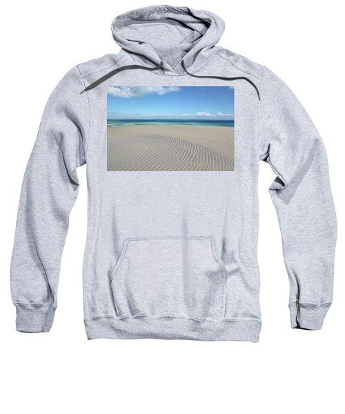Sand Dune Ripples And The Ocean Beyond Sweatshirt