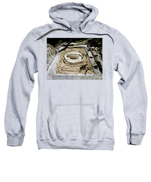 Sweatshirt featuring the photograph Sand Turtle Print by Francesca Mackenney