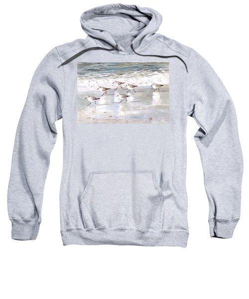 Sandpipers On Siesta Key Sweatshirt by Shawn McLoughlin