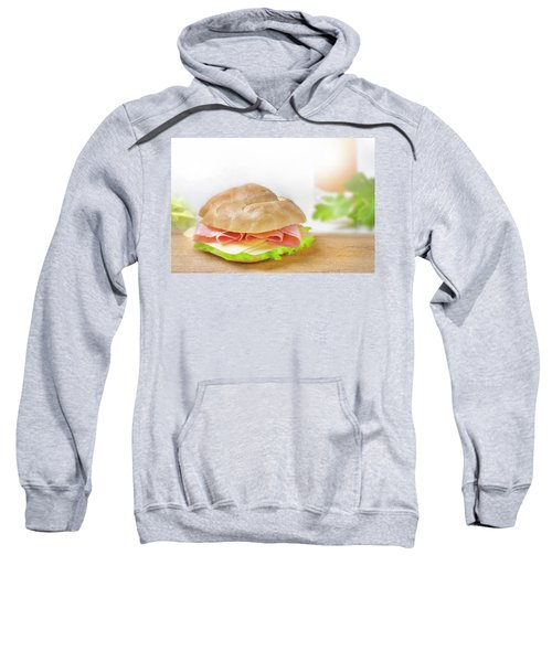 Sandwich With Ham And Green Lettuce And Cheese Sweatshirt