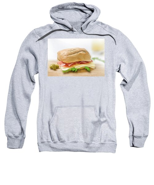 Sandwich With Prosciutto Cheese And Rukola Sweatshirt