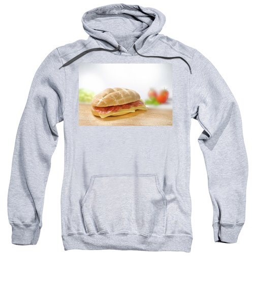 Sandwich With Salami And Cheese Sweatshirt
