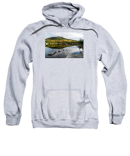 Reflection Sandy Stream Pond Me. Sweatshirt