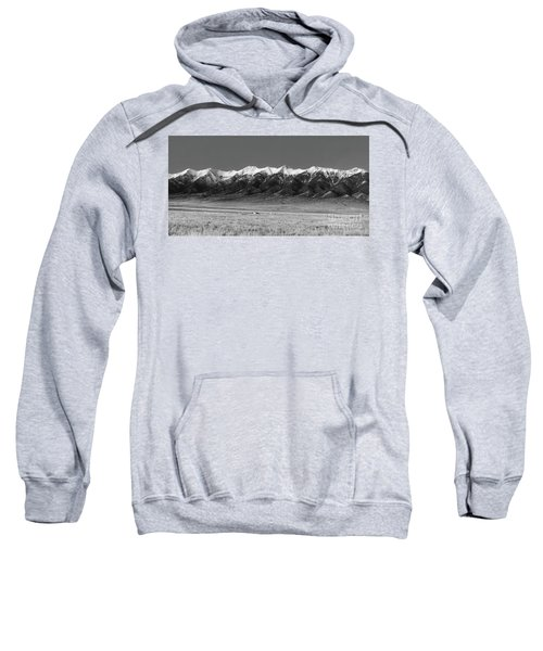 Sangre De Cristos  Dusk In Black And White Sweatshirt