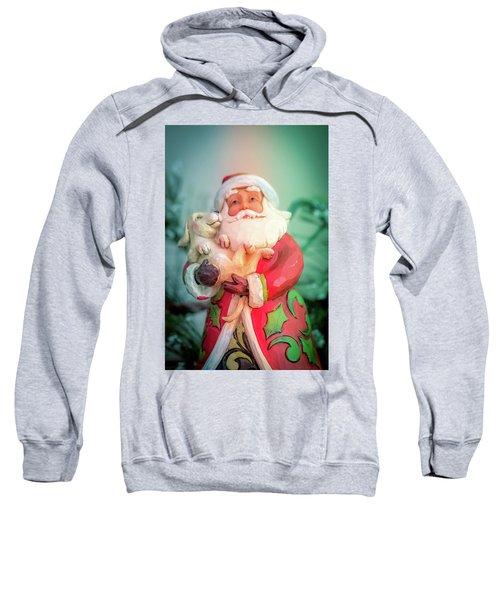 Santa And Lab Pup Sweatshirt