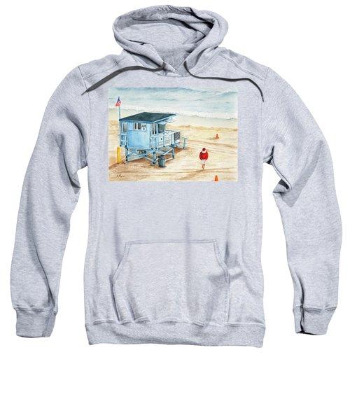 Santa Is On The Beach Sweatshirt