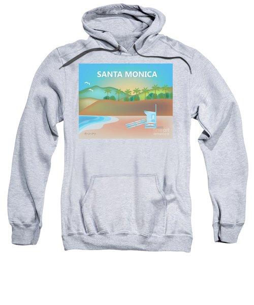 Santa Monica California Horizontal Scene Sweatshirt