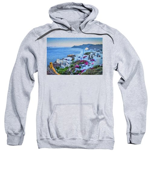 Santorini Greece Dwp416136  Sweatshirt