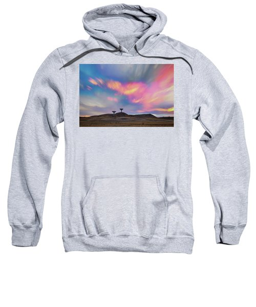 Sweatshirt featuring the photograph Satellite Dishes Quiet Communications To The Skies by James BO Insogna