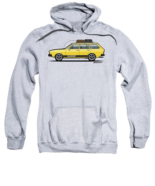 Saturn Yellow Volkswagen Dasher Wagon Sweatshirt