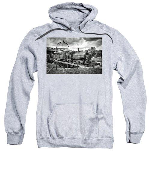 Savannah Central Steam Engine On Turn Table Sweatshirt
