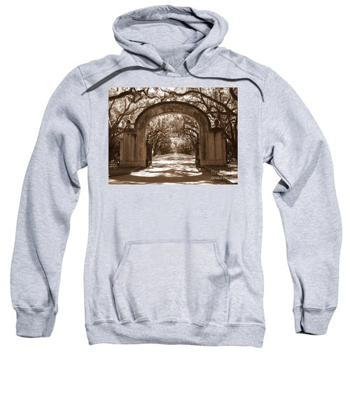 Savannaha Sepia - Wormsloe Plantation Gate Sweatshirt