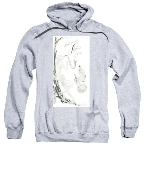 Sweatshirt featuring the digital art Sax Girl by ReInVintaged