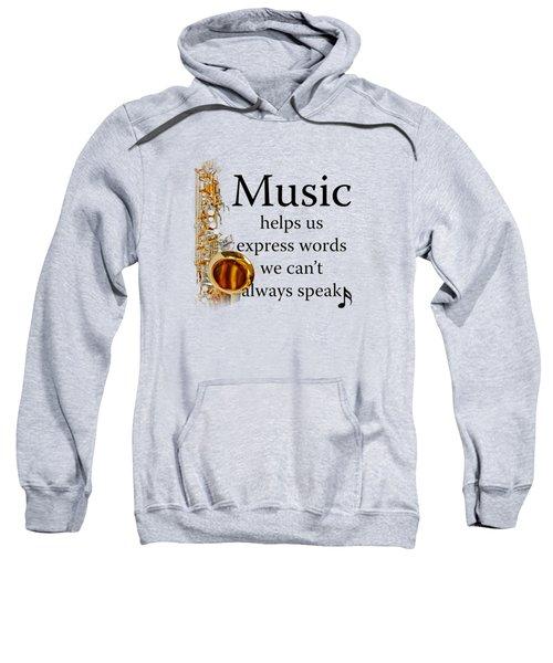 Saxophones Express Words Sweatshirt by M K  Miller