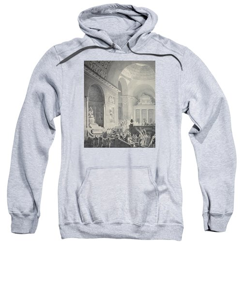 Scene In A Classical Temple  Funeral Procession Of A Warrior Sweatshirt