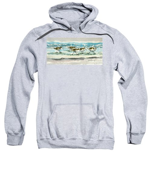 Scurrying Along The Shoreline 2  1-6-16 Sweatshirt