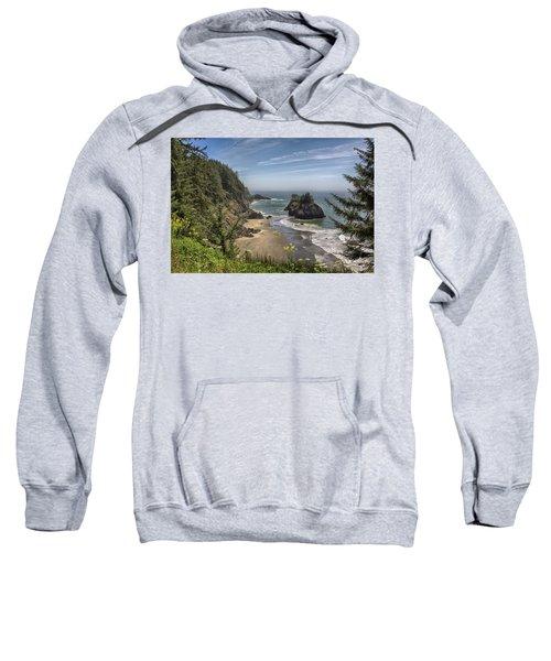 Sea Stacks And Wildflowers Sweatshirt