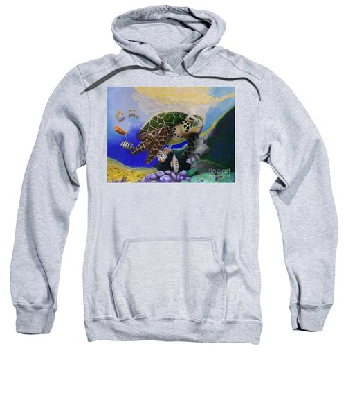 Sea Turtle Acrylic Painting Sweatshirt