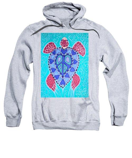 Sea Turtle Peace Sweatshirt