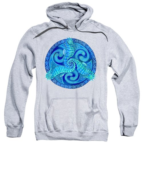 Seahorse Triskele Sweatshirt by Rebecca Wang