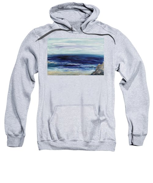 Seascape With White Cats Sweatshirt