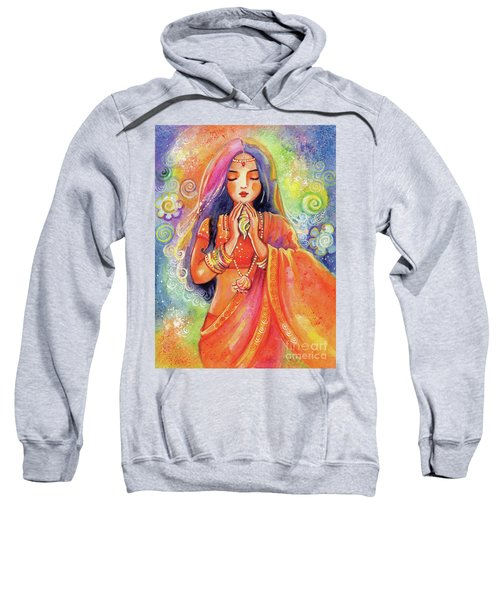 Sweatshirt featuring the painting Seashell Wish by Eva Campbell