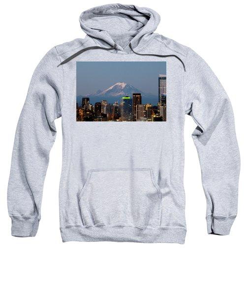 Seattle-mt. Rainier In The Morning Light.2 Sweatshirt