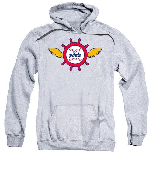 Seattle Pilots Retro Logo Sweatshirt by Spencer McKain