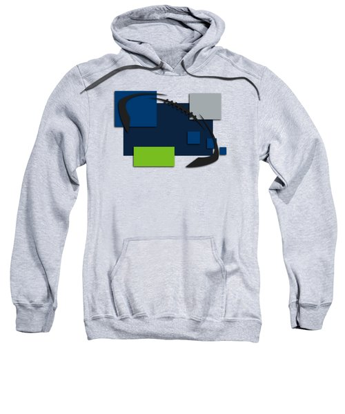 Seattle Seahawks Abstract Shirt Sweatshirt by Joe Hamilton