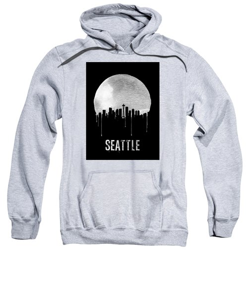 Seattle Skyline Black Sweatshirt by Naxart Studio