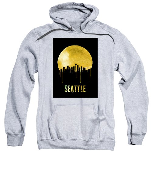 Seattle Skyline Yellow Sweatshirt by Naxart Studio
