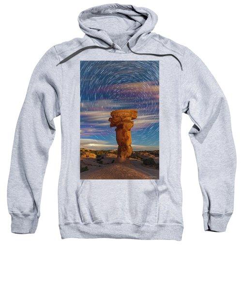 Secret Spire And Star Trails Sweatshirt