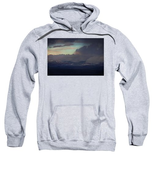 Sedona At Sunset With Red Rock Snow Sweatshirt