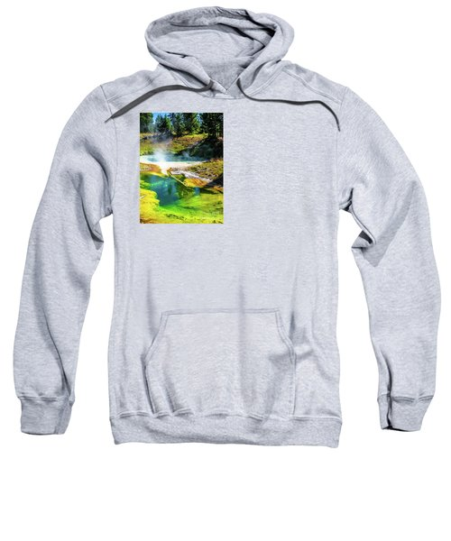 Seismograph Pool In Yellowstone Sweatshirt