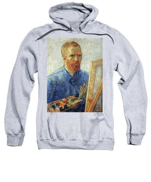 Sweatshirt featuring the painting Self Portrait As An Artist by Van Gogh