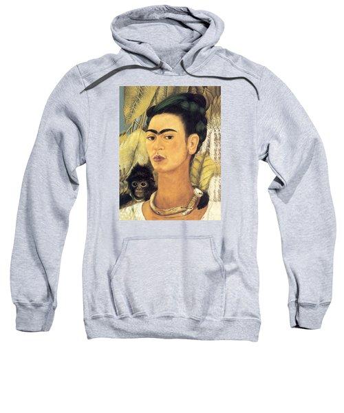 Self Portrait With Monkey  Sweatshirt